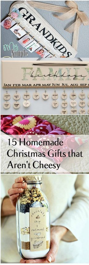 15 Homemade Christmas Gifts That Aren't Cheesy | Handmade ...