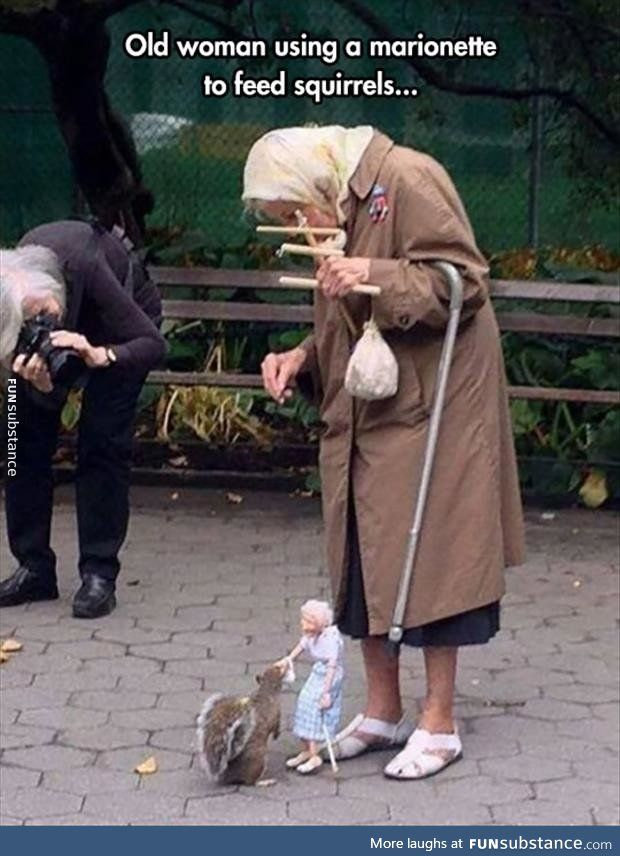 WTF are you doing, old lady?