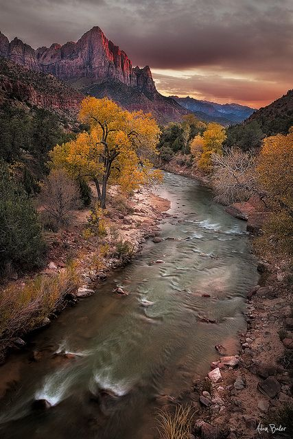 the watchman  By Adam Baker.     Zion, National Park.   This photo was taken on November 26, 2012 in Springdale, Utah, US.