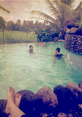 the swimming pool at Tembi Rumah Budaya Yogyakarta, Indonesia