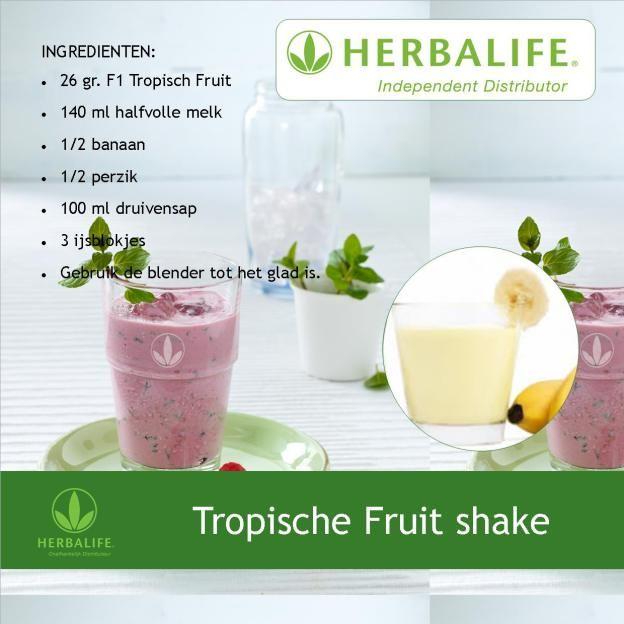 Herbalife shake recept Tropische Fruit shake