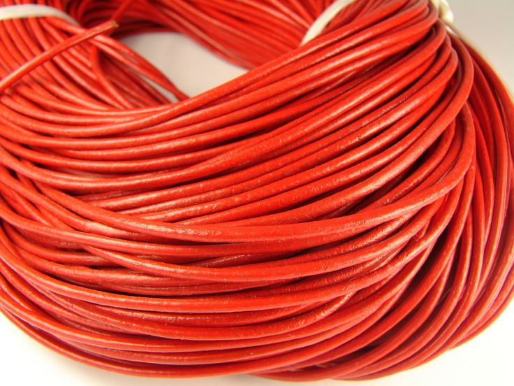 Excited to share the latest addition to my #etsy shop: 2mm Red Leather Cord, Leather cord, round leather cord, 2mm red color real leather strip, leather rope, leather string. Bracelet making http://etsy.me/2EtUMpZ #supplies #2mmleathercord #leathercord #genuineleatherc