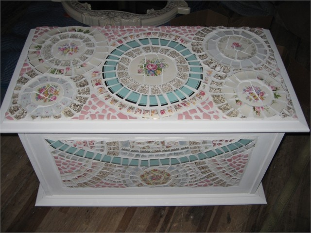 Mosaic chest - very cute for girls room