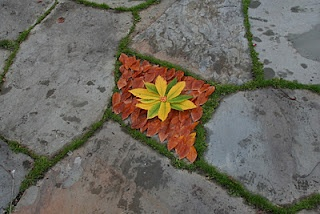 Land art by kids The Calvert Canvas: Adventures in Middle School Art!: Earth Art after Andy Goldsworthy