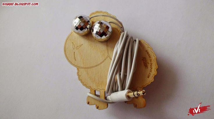 Owca słuchawkowa   ivigraf , laser cut