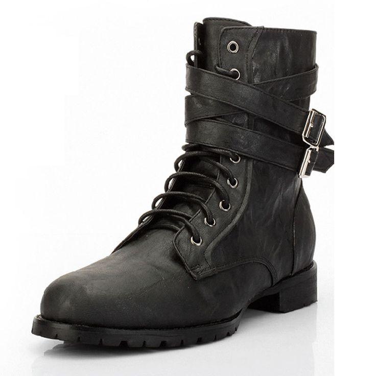 cheap black boots mens