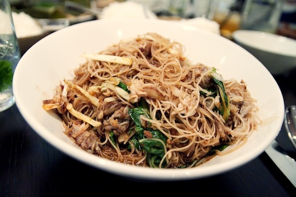 Kin Shop - pan fried crab noodles ($21)