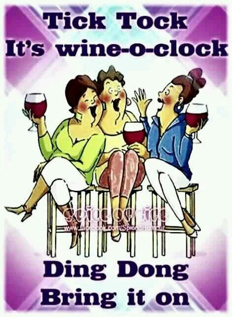It's Wine-O'Clock