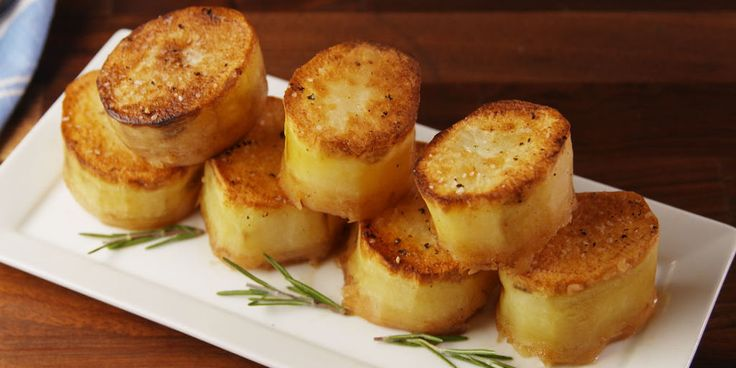 Fondanr potatoes  So good they melt in your mouth.