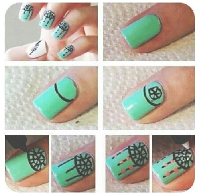 Cute Nail Design Step By Step Nails Pinterest Nail Art Cute Nails And Dream Catchers