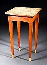 """Y2K Small Side Table by Bayley Wharton (Wooden Side Table) (24"""" x 14"""")"""