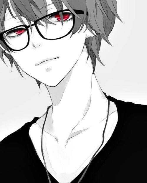 anime, boy, and glasses-bilde