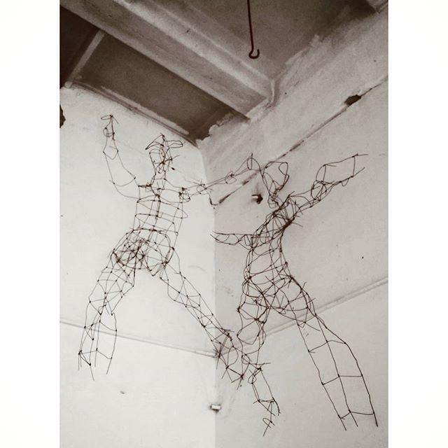 Rabóczky Judit: Figures in the atelier, 2015 welded iron