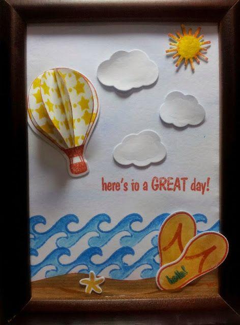 BellesCreations.gr: Summer time... A wonderful Photo Frame