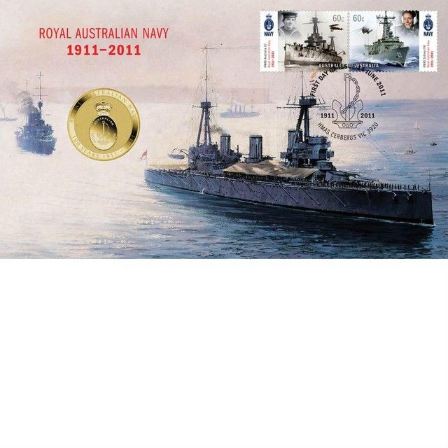 ROYAL AUSTRALIAN NAVY 1911 - 2011 STAMP AND COIN COVER
