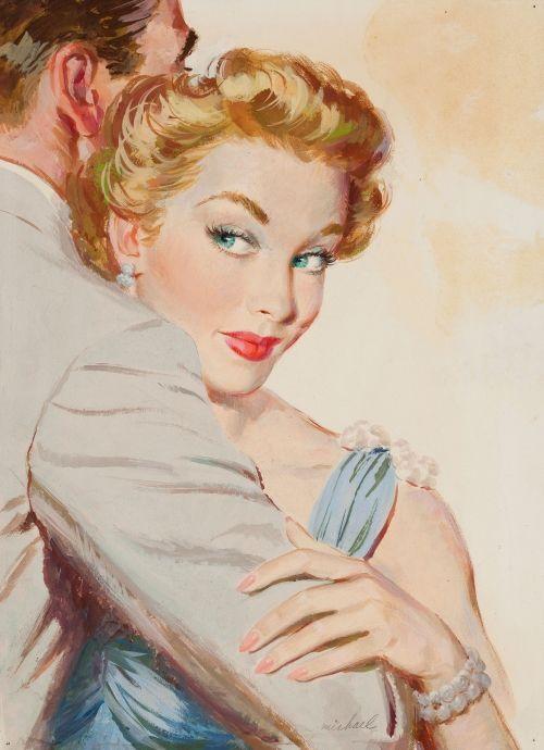 Открытку для, ретро картинки мужчины и женщины