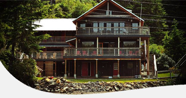 Beautiful all inclusive boutique fishing lodge, located on the remote North West Coast of Vancouver Island, Kyuquot BC www.ruggedpointlodge.com