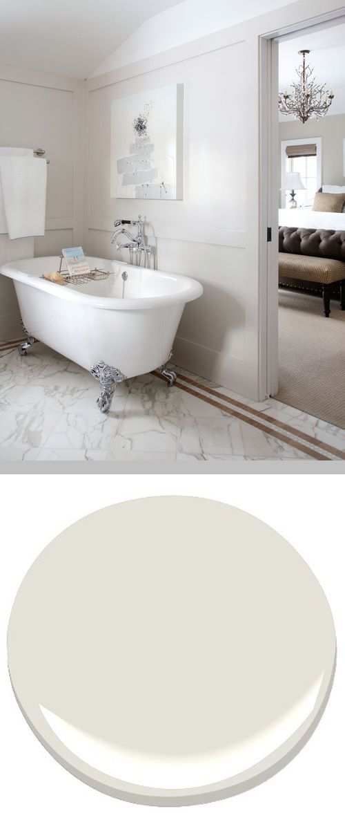 Benjamin Moore 'Classic Gray 1548' - Very pale gray with warm undertones #home #bathroom #interior_paint_color