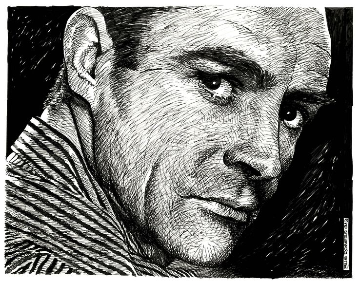 Sean Connery Portrait by EnricBug