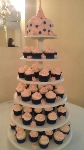 Paris Baby Shower Cupcake Tower