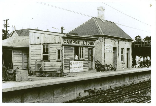 Railway station - Campbelltown c.1968 | Flickr - Photo Sharing!