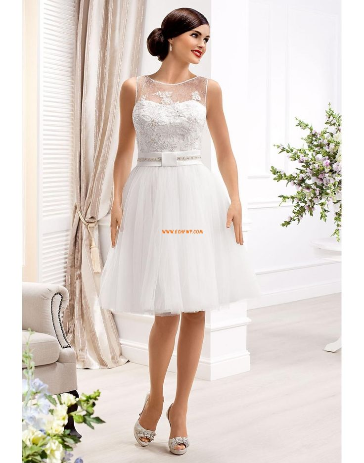 Longueur genou L'automne 2013 Naturel Robes de mariée 2014