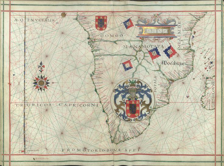 """Il. 171 - 0028 Fernão Vaz Dourado (1520-1580) -  """"Atlas"""" / [Atribuído a Fernão Vaz Dourado]. [Cerca de 1576].   BNP IL. 171"""