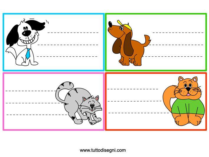 Etichette per libri e quaderni di scuola - TuttoDisegni.com