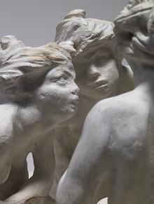 Les cuaseuses, de Camille Claudel - Las expresiones de los rostros de los personajes de este conjunto escutórico son una maravilla