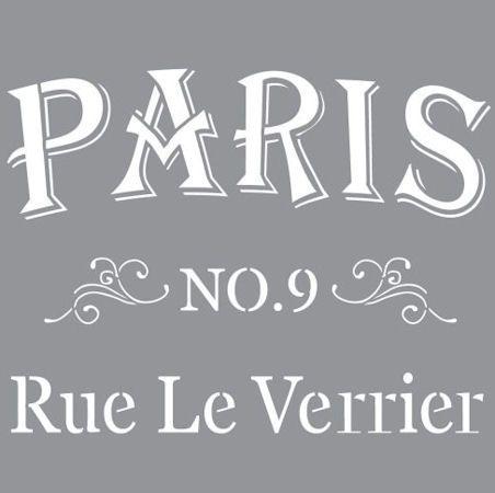Nya schabloner. Här på bilden Parisian street. Schablon i laserutskuren plast. Tålig och återanvändningsbar. Lätt att tvätta av.