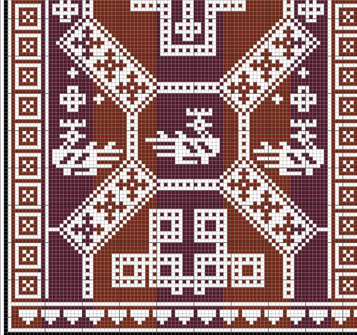 # 4. Overhogdal Tapestries (Sweden 800-1100). This would work great as needlepoint.