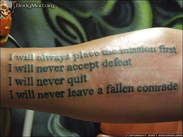 Army Ethos Soldiers Creed Tattoo Ideas Army Tattoo Army Warriors ...