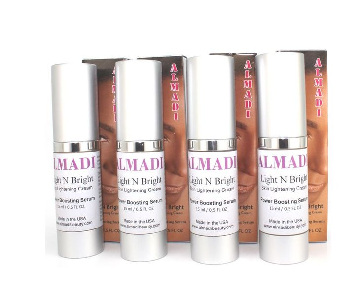 Almadi Light N Bright Skin Lightening Cream - Power Boosting Serum 4 Pack Bundle Super Duper Deal