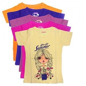 New-Day-Girls-Cotton-T-Shirt-Pack-of-Five-0