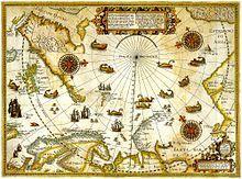 Grandes découvertes - Wikipédia Carte de l'Arctique réalisé par Willem Barentsz durant son troisième voyage en 1599.