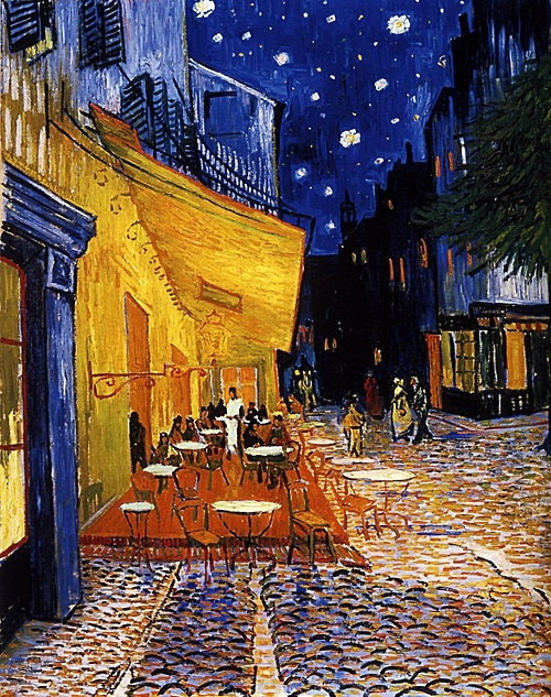 Caféterras bij nacht by Vincent van Gogh