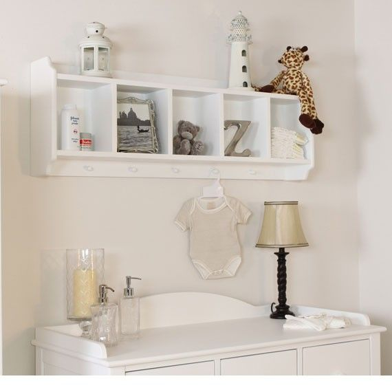 Storage idea for above the changing table