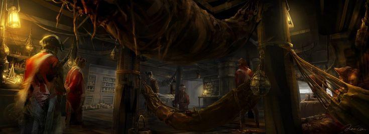 Haytham Doctor Cabin_Assassina Creed 3, Max Qin on ArtStation at https://www.artstation.com/artwork/haytham-doctor-cabin_assassina-creed-3
