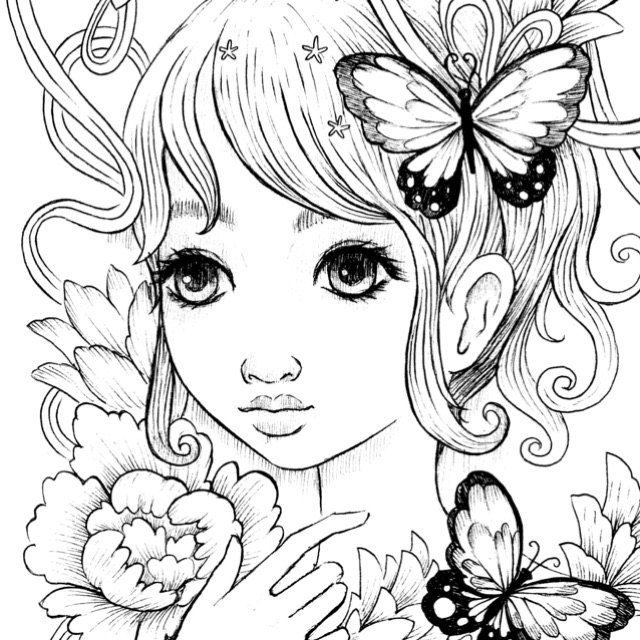 Flutter Coloring Page Witch Coloring Pages Coloring Pages
