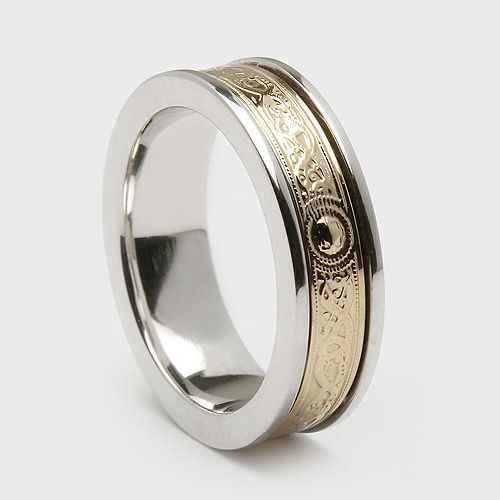 inspired by the Ardagh Chalice. Irish warrior wedding bands.