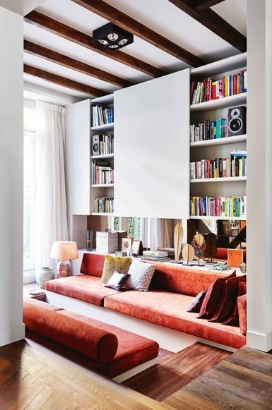 """House tour: inside a young couple's vibrant Dutch townhouse: Since founding the Nicemakers studio in 2011, the designers have built an impressively diverse portfolio with projects spanning the residential, retail, restaurant, office and hotel sectors, including The Hoxton, Amsterdam hotel and Jacobsz restaurant. The duo has established a reputation for creating a homey aesthetic by mixing quirky vintage chic with a vibrant modern sensibility and a tactile, personal touch. """"If we start with…"""