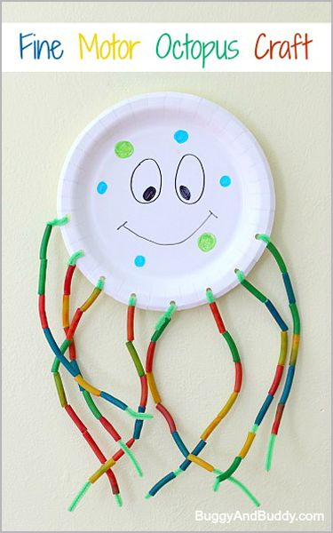 Fine motor octopus craft from Buggy and Buddy