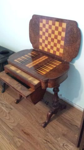 Circa 1860s Victorian Games/Sewing Table | art, collectibles | Peterborough…