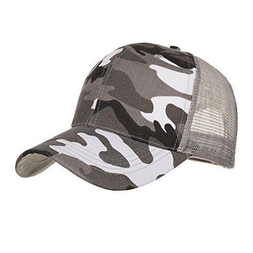 c310fb5826c7 LMMVP Sombrero Sombreros de Malla de Verano Gorro de Camuflaje para ...
