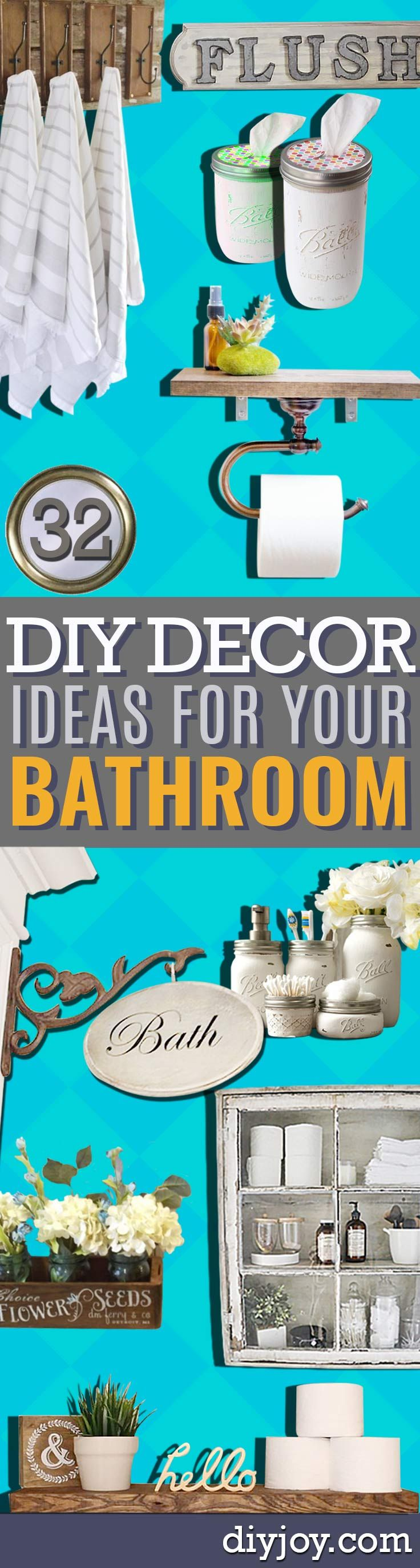 101 best diy projects for the home images on pinterest for Do it yourself bathroom ideas