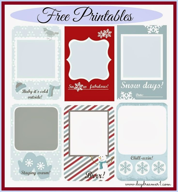 Free Journaling Printables for Project Life, Filofax, Smash Journals from Day Dreamer