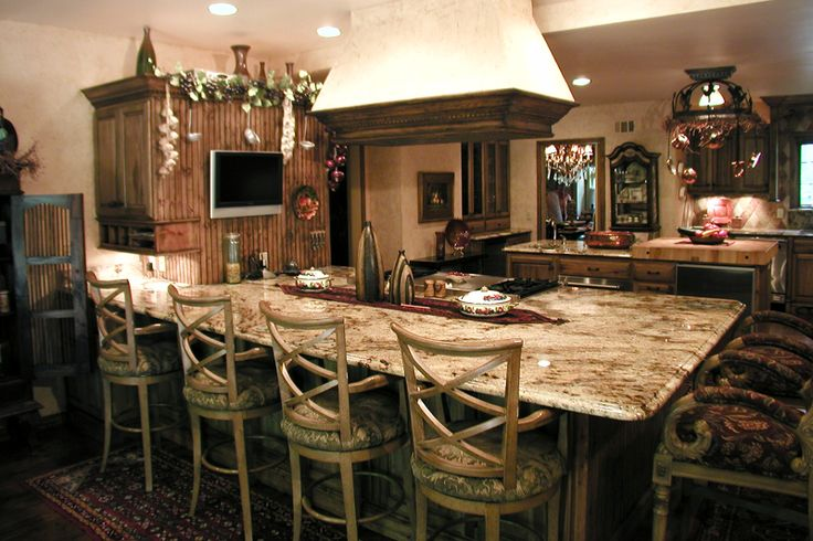 Old World Decorating Above Kitchen Cabinets And French Country