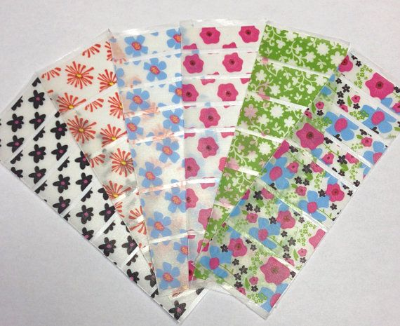 Assorted Floral Washi Erin Condren Planner Sticker by JULYDESIGNXO