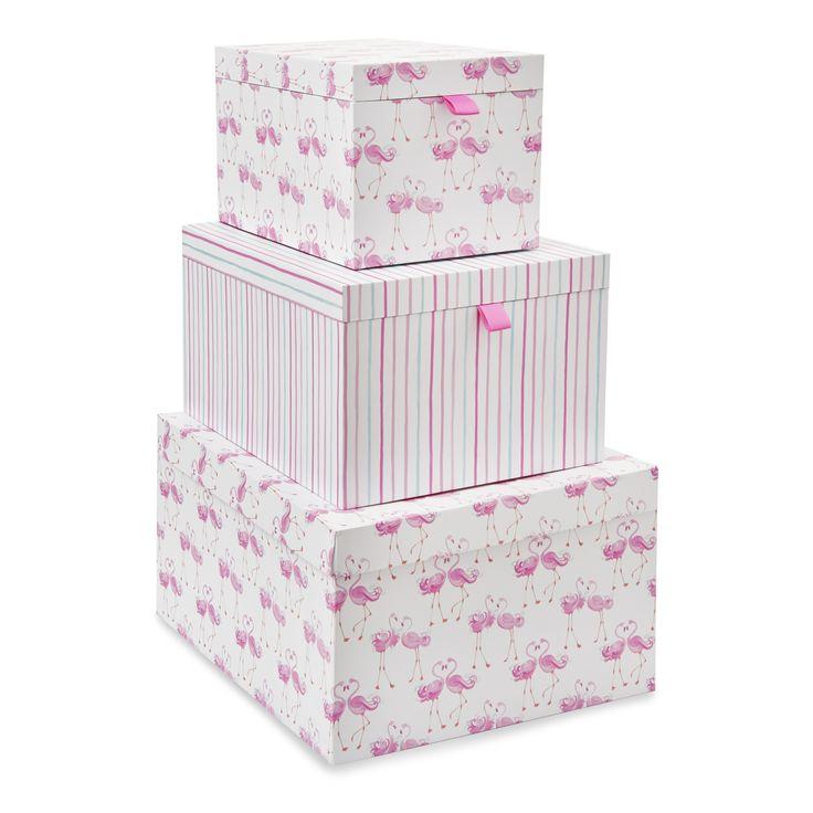 Pretty Flamingo Storage Boxes at Laura Ashley