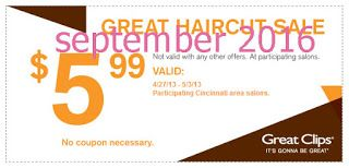 Free Printable Coupons: Great Clips Coupons